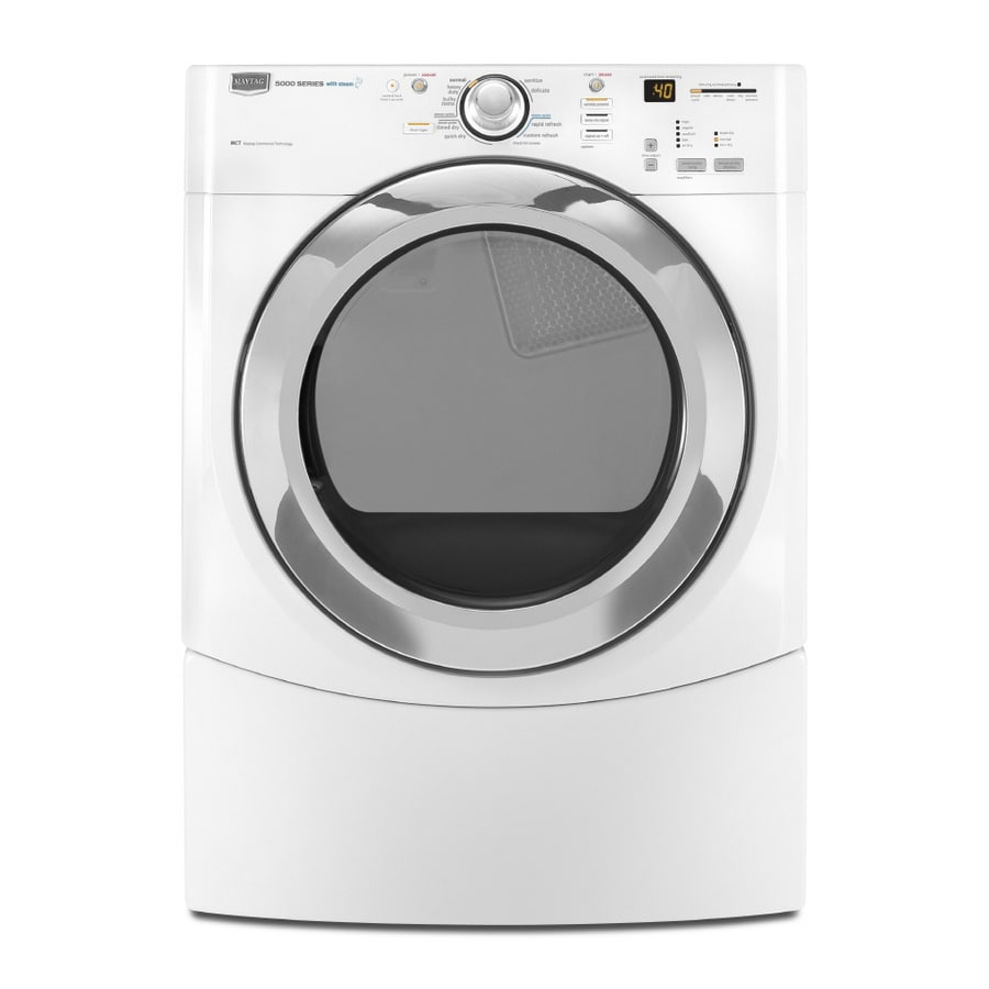 Maytag Performance 7.2-cu ft Stackable Gas Dryer with Steam Cycle (White)