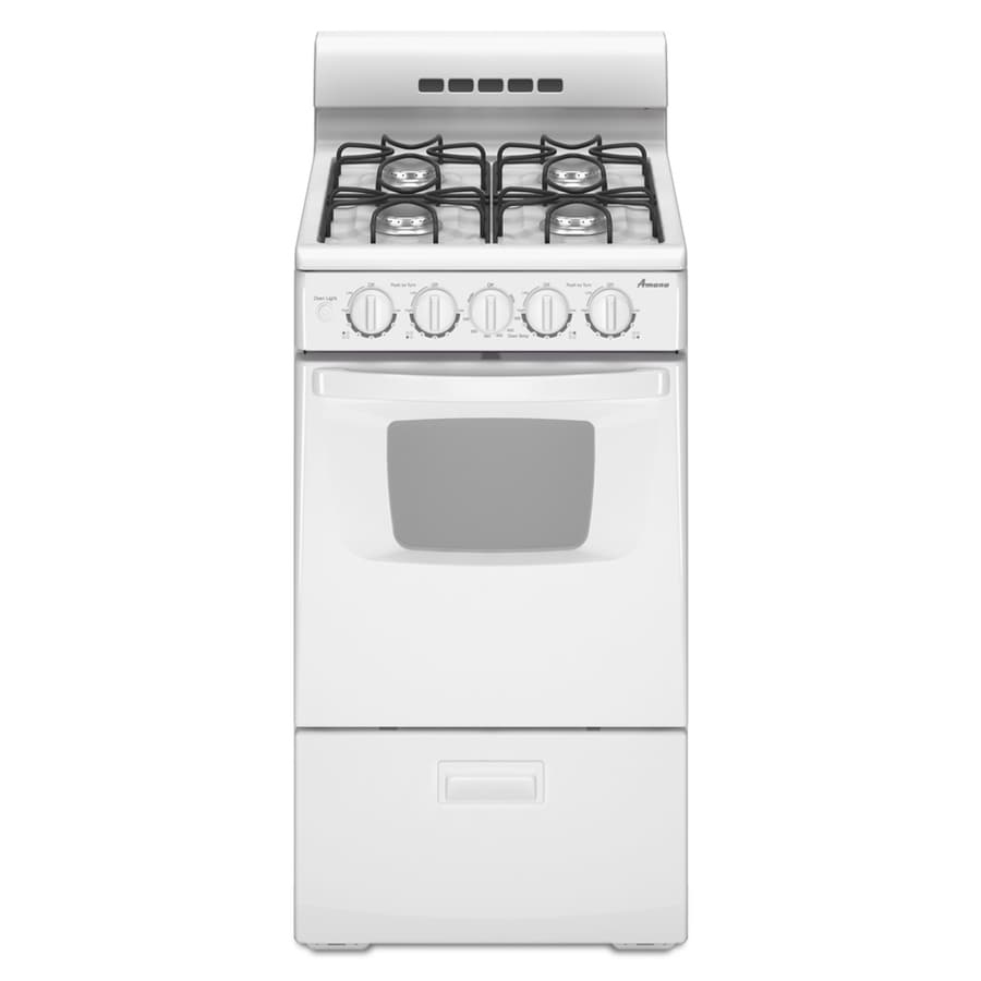 Shop amana freestanding 2 6 cu ft gas range white for The model apartment review