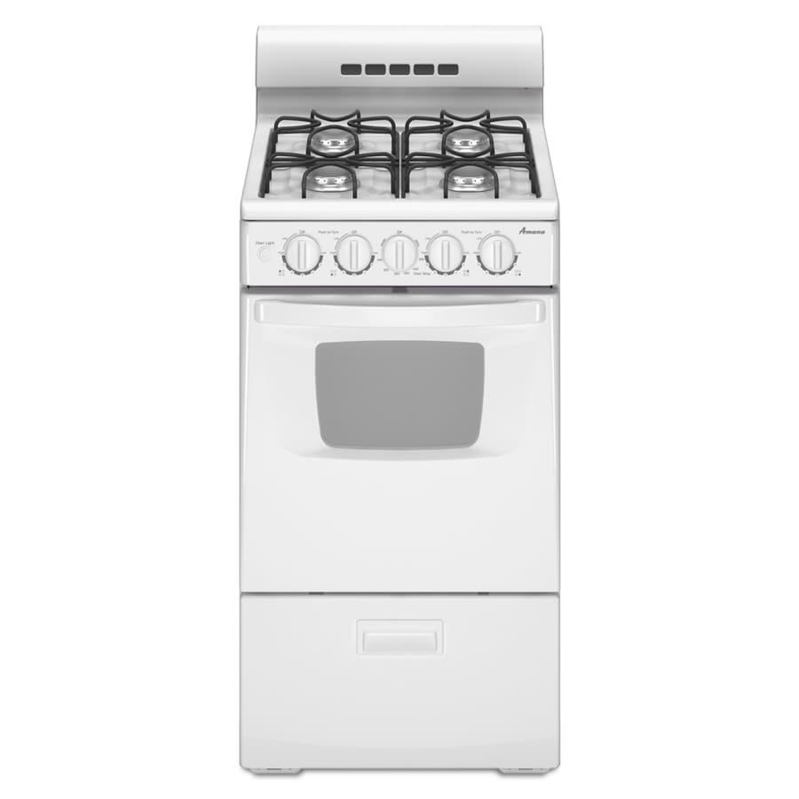 Kitchen Stoves At Lowes: Shop Amana Freestanding 2.6-cu Ft Gas Range (White