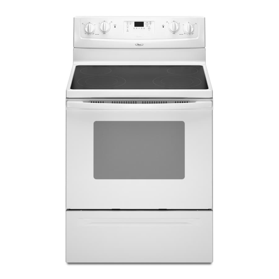 "Whirlpool 30"" Smooth Surface Freestanding Electric Range (Color: White)"