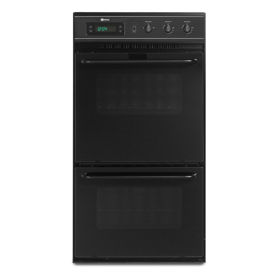 Maytag 24-in Double Electric Wall Oven (Black)