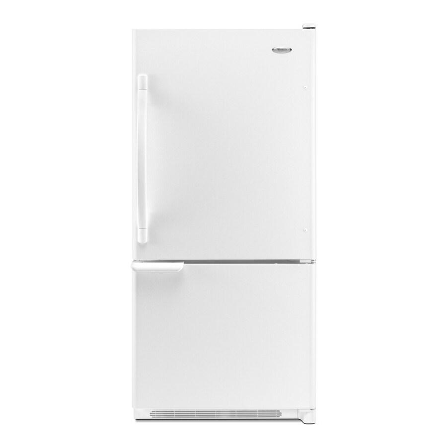 Whirlpool 18.5-cu ft Bottom-Freezer Refrigerator with Single Ice Maker Ice Maker (White)
