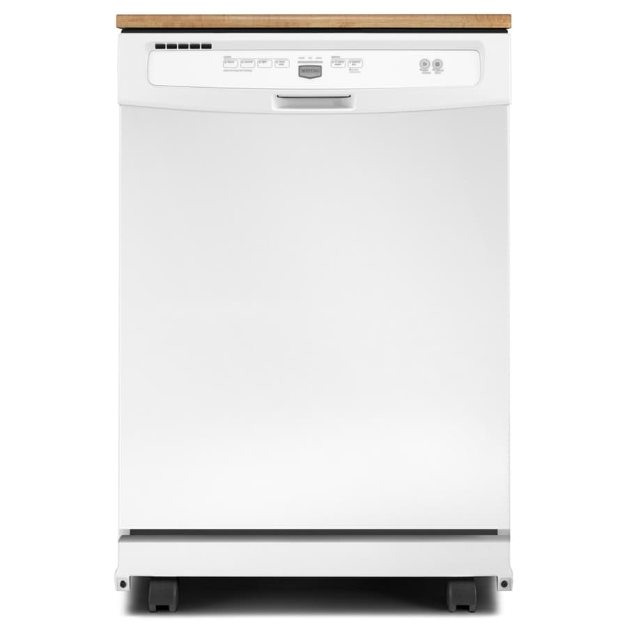 Maytag 24.125-in 64-Decibel Portable Dishwasher (White)