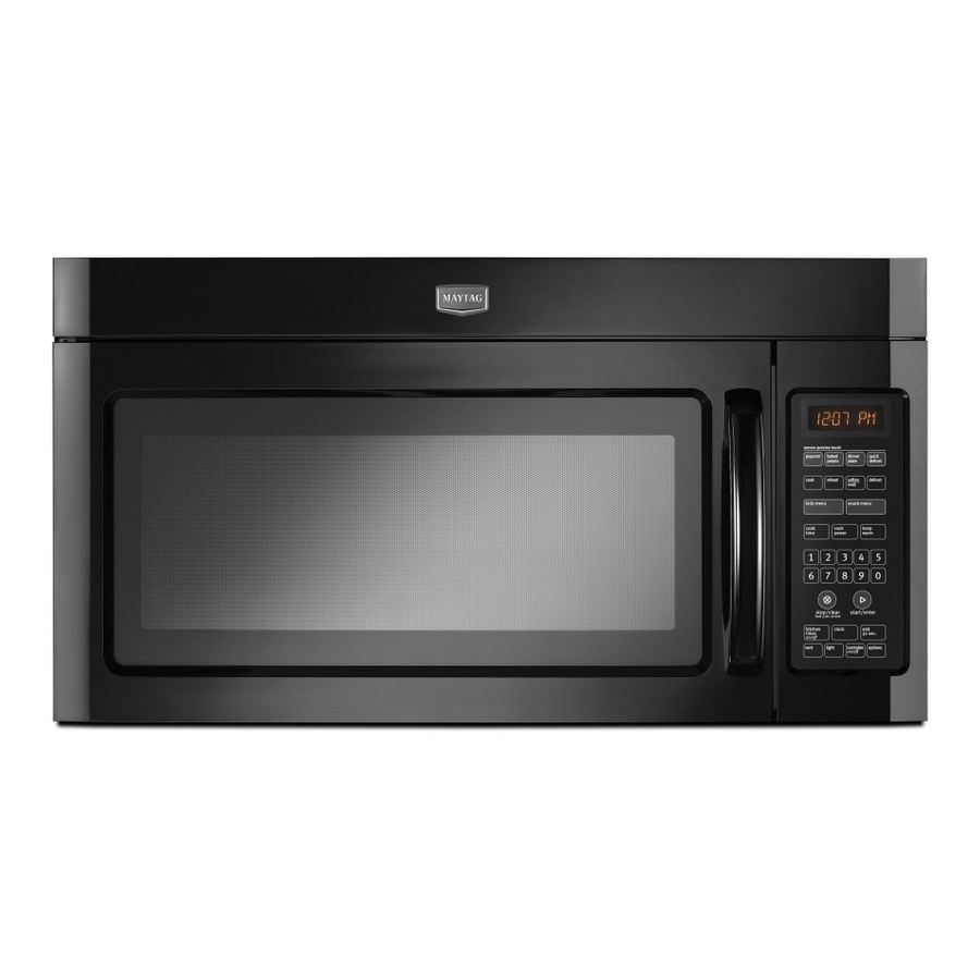 Maytag 2-cu ft Over-The-Range Microwave with Sensor Cooking Controls (Black) (Actual: 29.5-in)