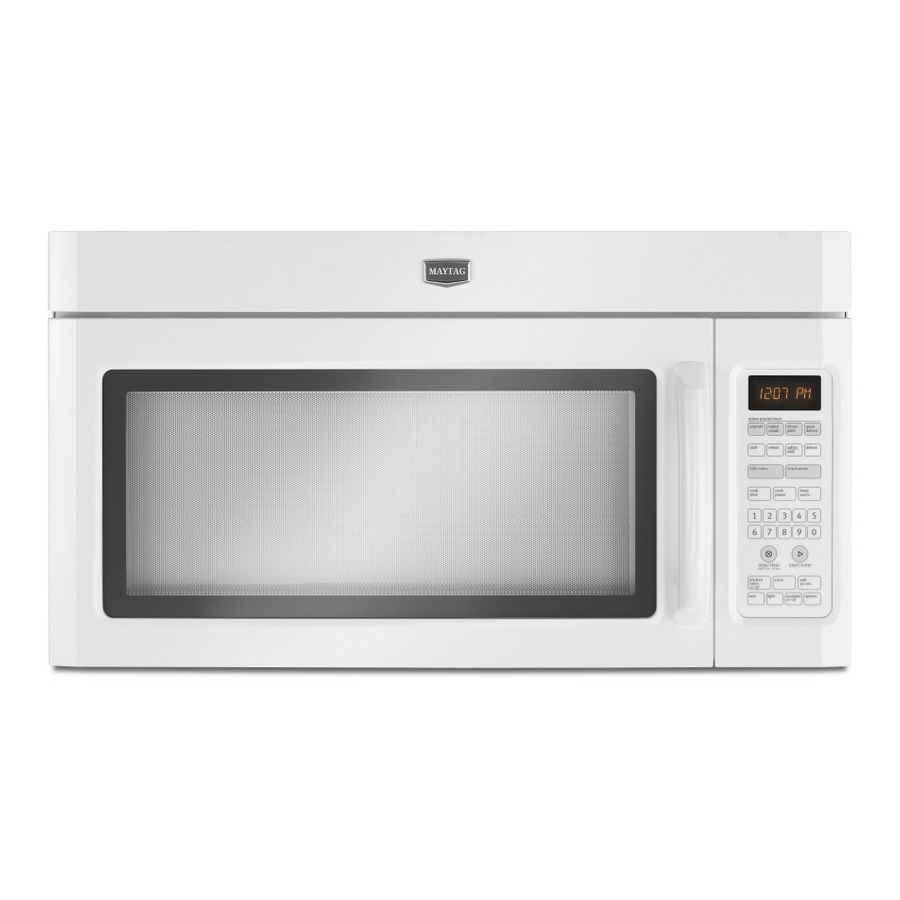 Maytag 2-cu ft Over-The-Range Microwave with Sensor Cooking Controls (White) (Actual: 29.5-in)
