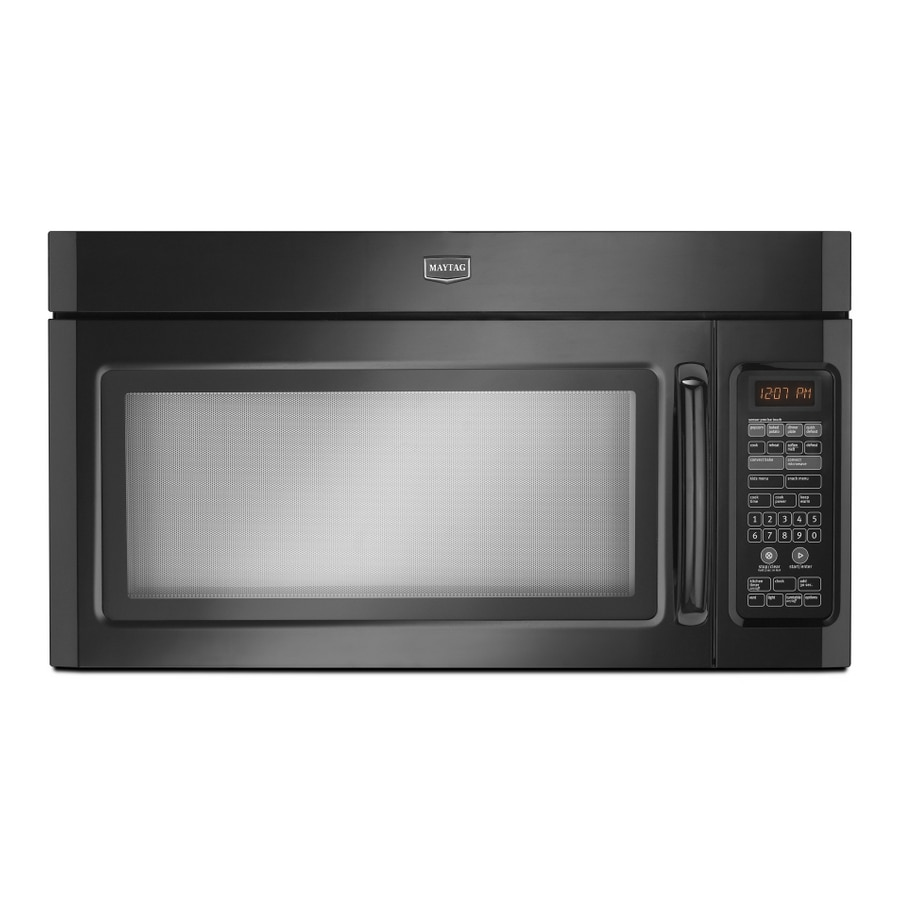 Maytag 1.8-cu ft Over-the-Range Convection Microwave with Sensor Cooking Controls (Black)