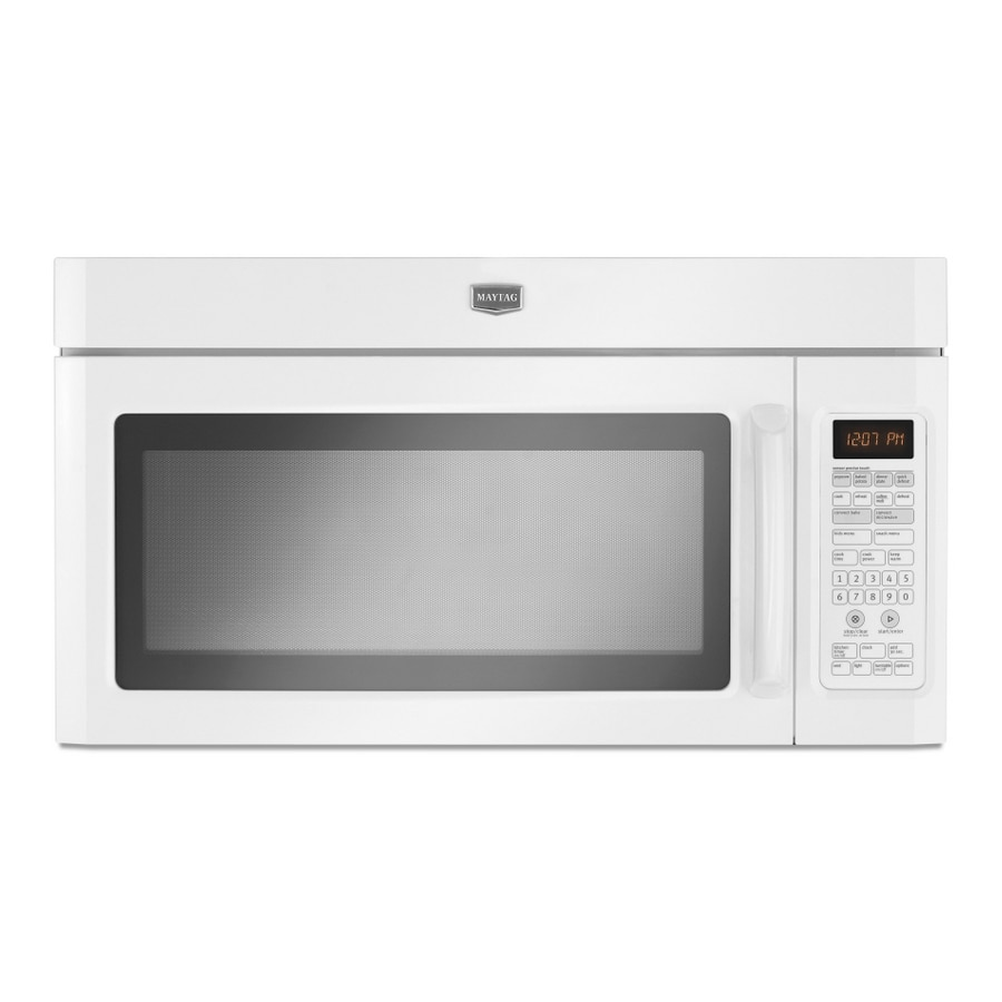 Maytag 1.8-cu ft Over-the-Range Convection Microwave with Sensor Cooking Controls (White)