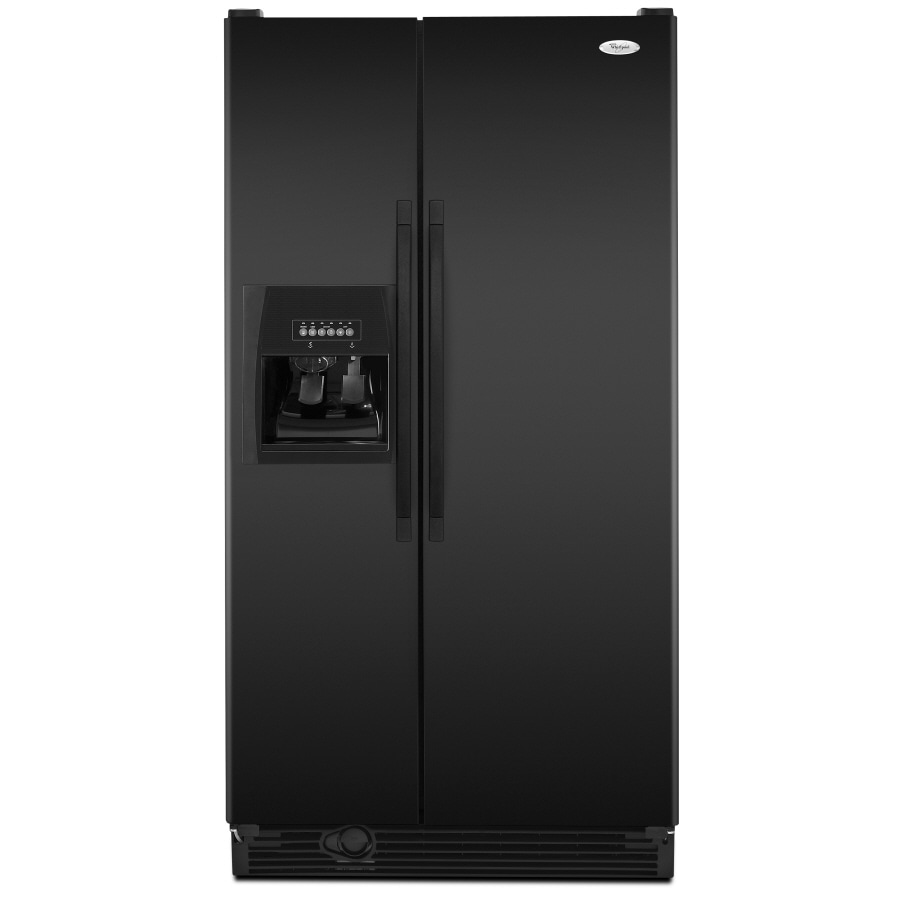 Whirlpool 25.1 cu ft Side-by-Side Refrigerator (Black) ENERGY STAR