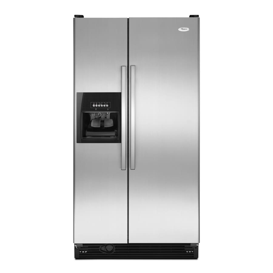 Whirlpool 25.1-cu ft Side-By-Side Refrigerator with Single Ice Maker (Stainless Steel) ENERGY STAR
