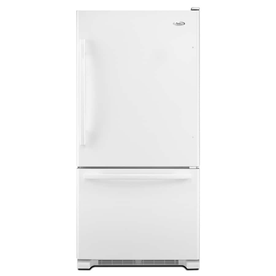 Whirlpool Gold 18.5-cu ft Bottom-Freezer Refrigerator with Single Ice Maker (White) ENERGY STAR