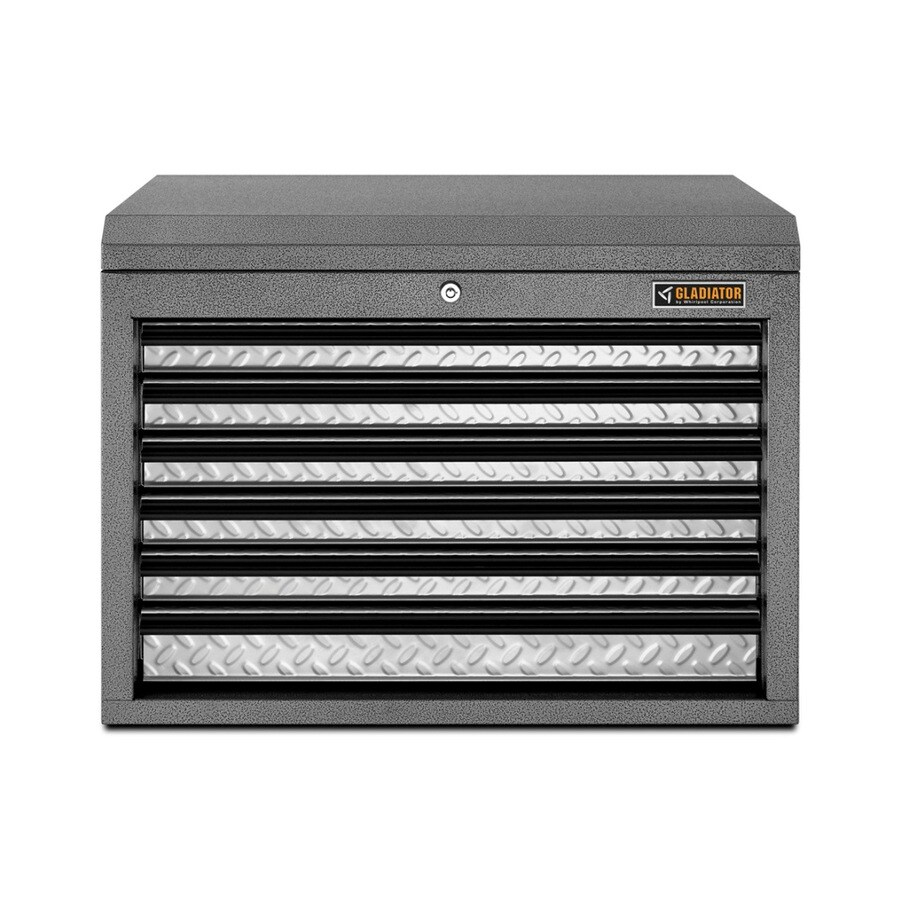 Gladiator 19-in x 26-in 6-Drawer Ball-Bearing Steel Tool Chest (Silver)