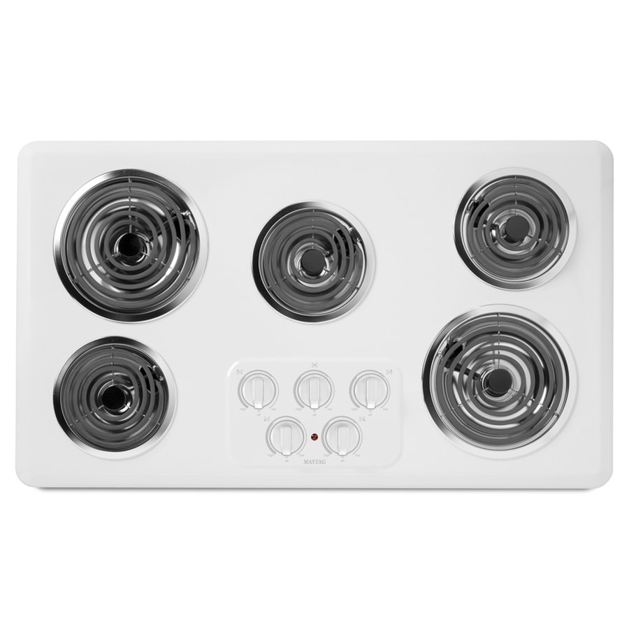 Maytag 5-Element Electric Cooktop (White) (Common: 36-in; Actual 36-in)