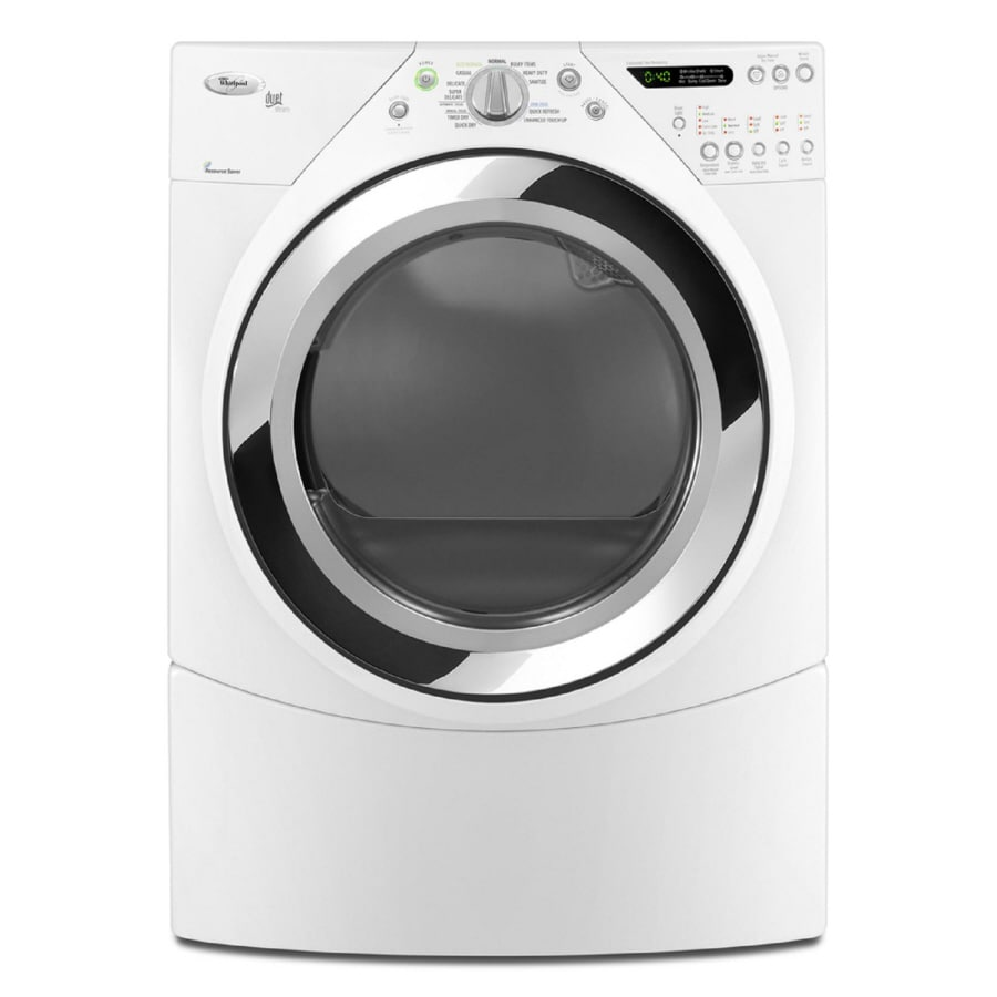 Whirlpool Duet 7.2-cu ft Stackable Gas Dryer with Steam Cycle (White)