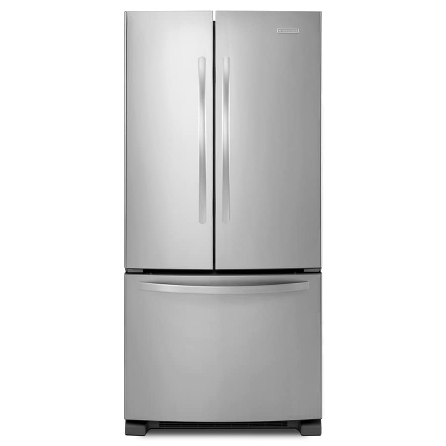 KitchenAid Architect® Ii 21.9-cu ft French Door Refrigerator with Single Ice Maker (Monochromatic Stainless Steel)