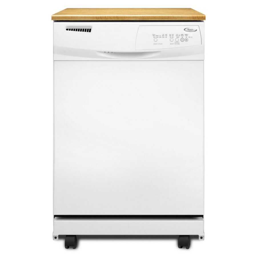 Whirlpool 24-1/8-in Portable Dishwasher with Hard Food Disposer (White)