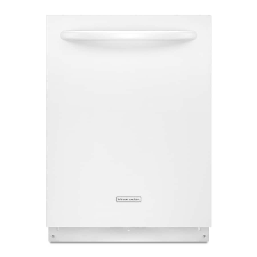 KitchenAid 24-in 52-Decibel Built-in Dishwasher with Hard Food Disposer Stainless Steel (White) ENERGY STAR