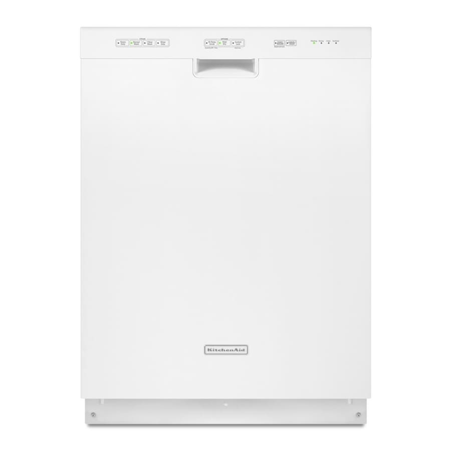 KitchenAid 52-Decibel Built-In Dishwasher with Hard Food Disposer (White) (Common: 24-in; Actual 23.875-in) ENERGY STAR