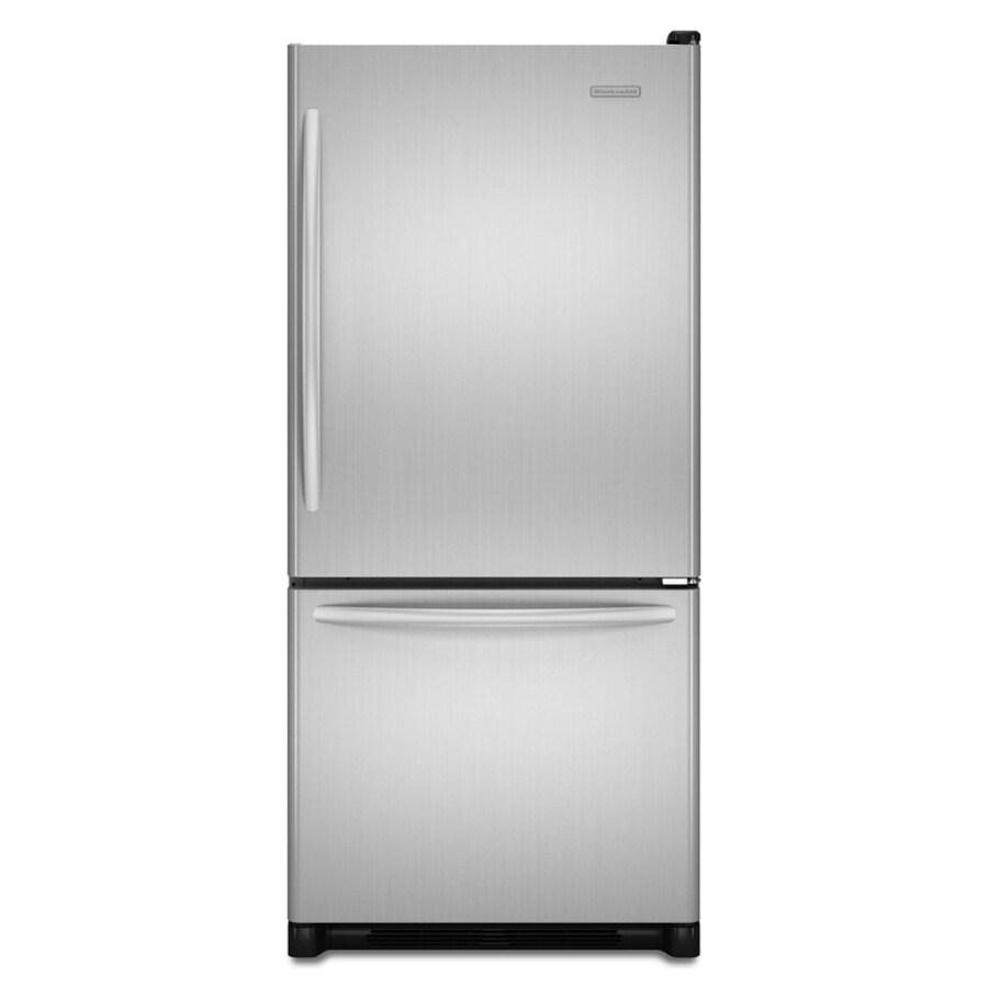KitchenAid Architect II 18.5-cu ft Bottom-Freezer Refrigerator (Stainless) ENERGY STAR