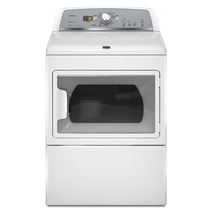 Maytag 7.4-cu ft Electric Dryer (White)