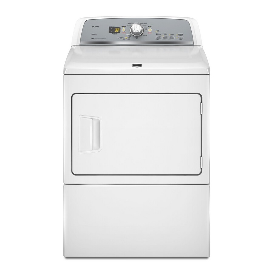 Maytag Bravos X 7.4-cu ft Gas Dryer (White)
