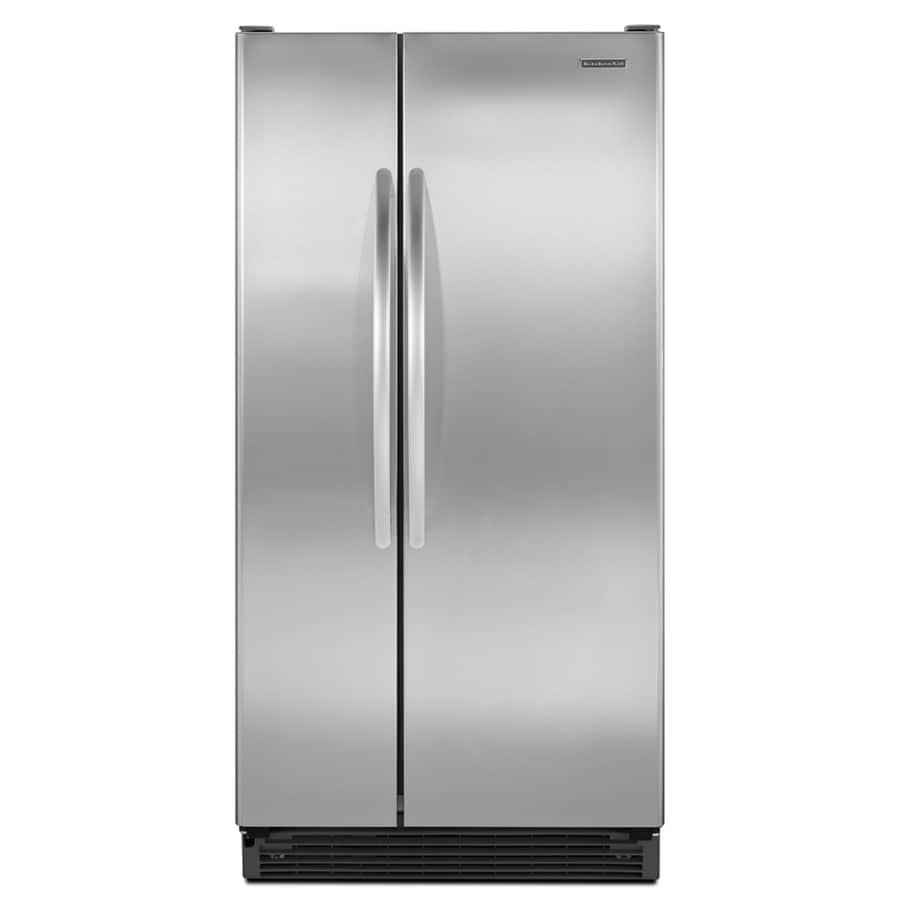 Shop Kitchenaid 24 8 Cu Ft Side By Side Refrigerator With: Shop KitchenAid Architect II 25 Cu Ft Side-by-Side