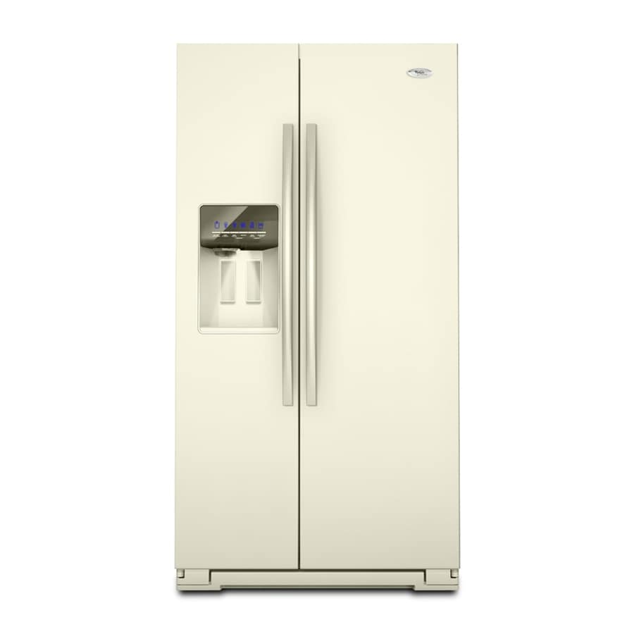 Whirlpool Gold 26.4-cu ft Side-by-Side Refrigerator (Biscuit) ENERGY STAR