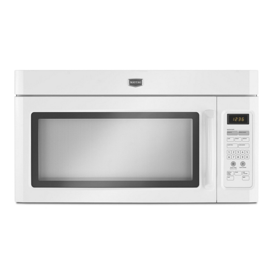 Maytag 1.6-cu ft Over-the-Range Microwave with Sensor Cooking Controls (White)