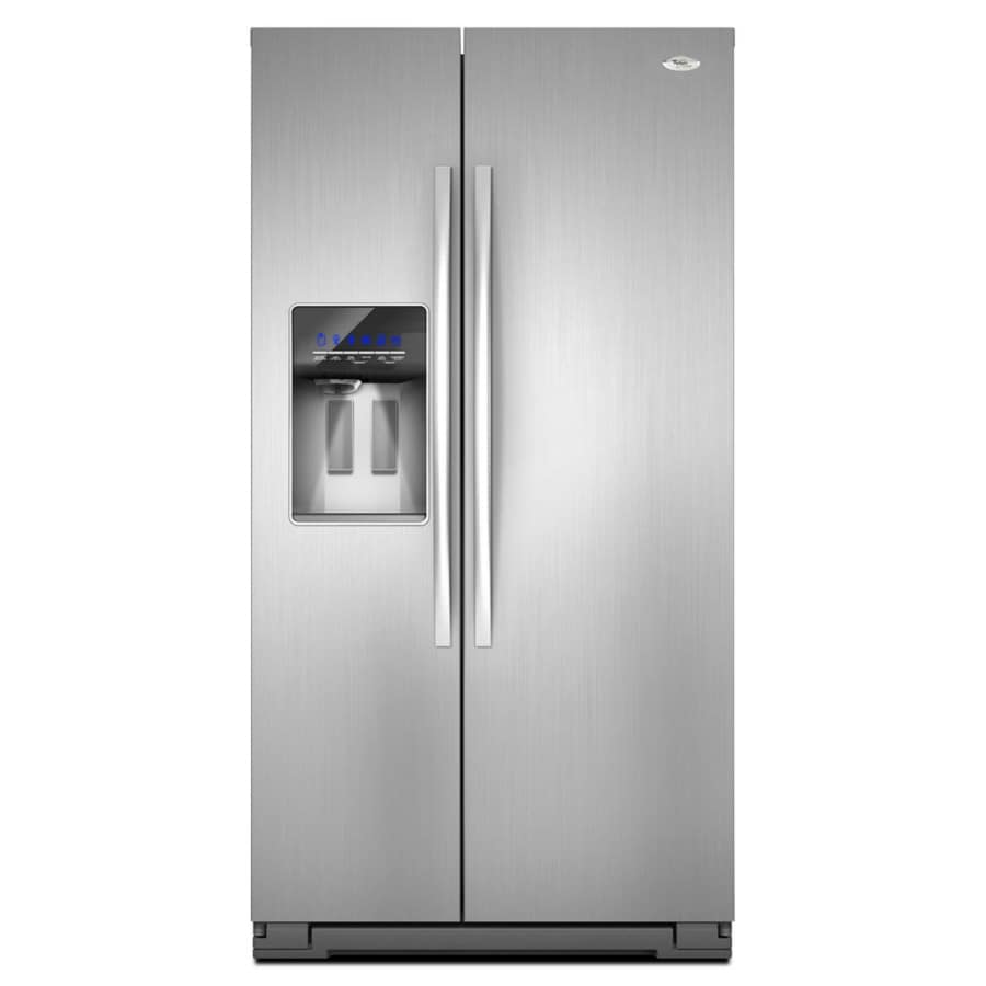 Whirlpool Gold 26.4-cu ft Side-By-Side Refrigerator with Single Ice Maker (Monochromatic Stainless Steel) ENERGY STAR