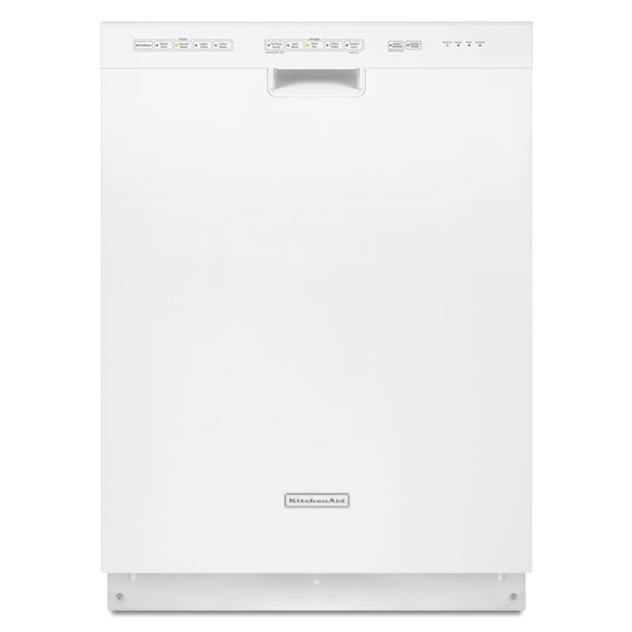 "KitchenAid 24"" Built-In Dishwasher (White) ENERGY STAR"