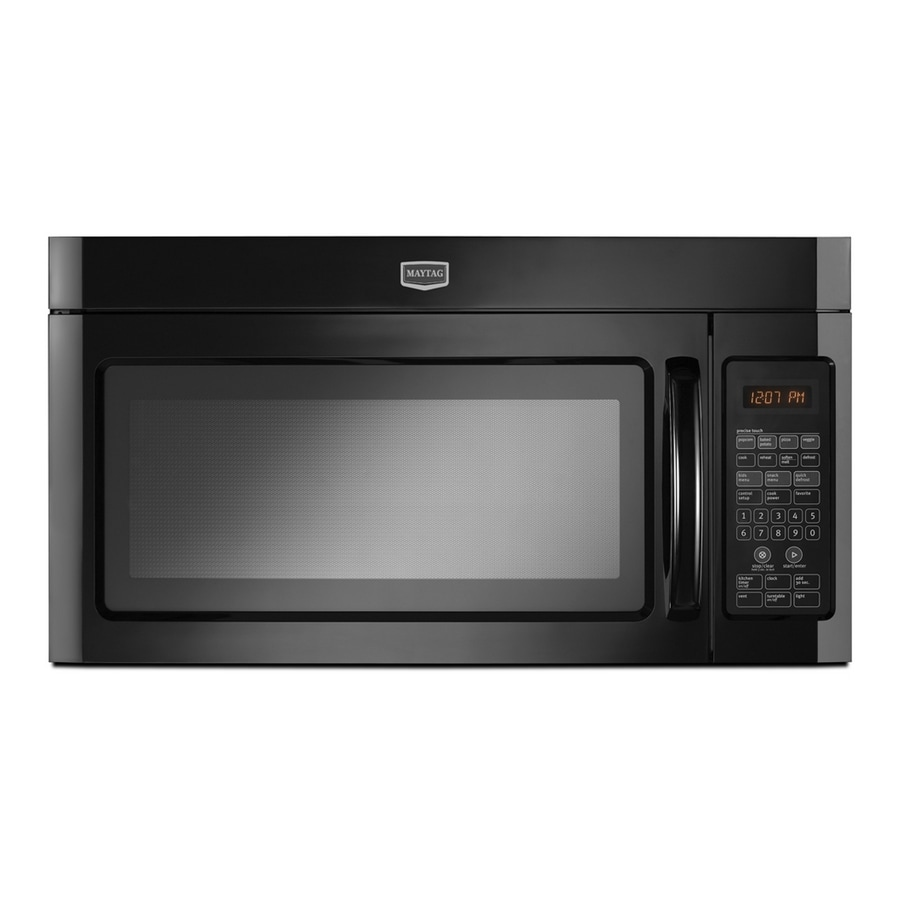 Maytag 2-cu ft Over-the-Range Microwave with Sensor Cooking Controls (Black)