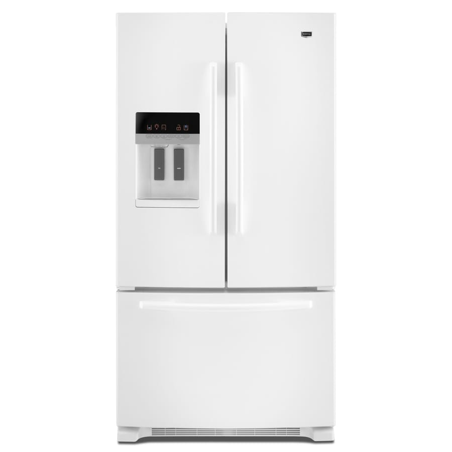 Maytag 25.6-cu ft 3 French Door Refrigerator with Single Ice Maker (White) ENERGY STAR