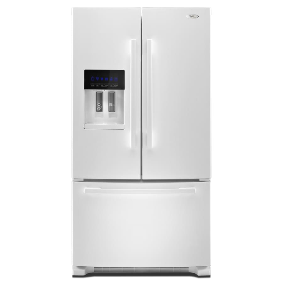 Whirlpool Gold 25.6-cu ft French Door Refrigerator with Single Ice Maker (White) ENERGY STAR