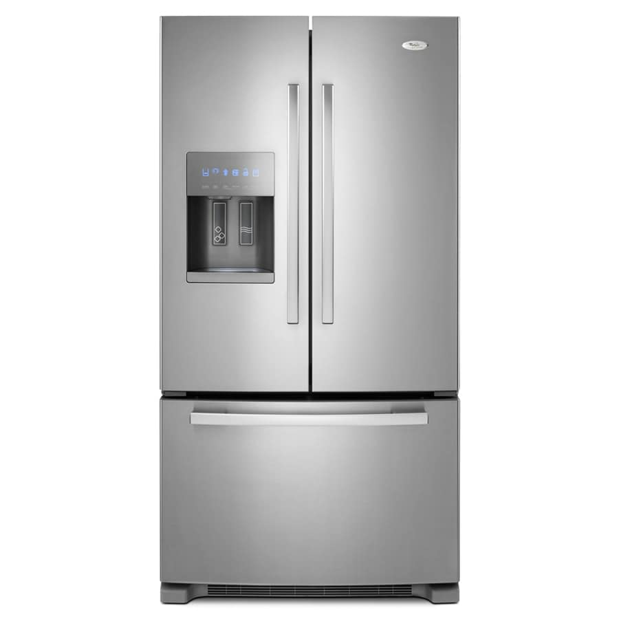 Whirlpool Gold 25.6-cu ft French Door Refrigerator with Single Ice Maker (Monochromatic Stainless Steel) ENERGY STAR