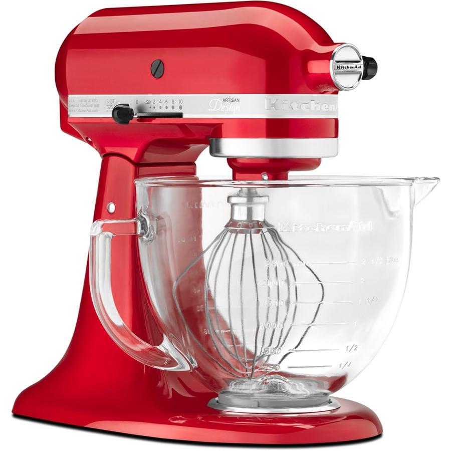 KitchenAid Artisan Designer Artisan Design Series 5-Quart 10-Speed Candy Apple Red Countertop Stand Mixer