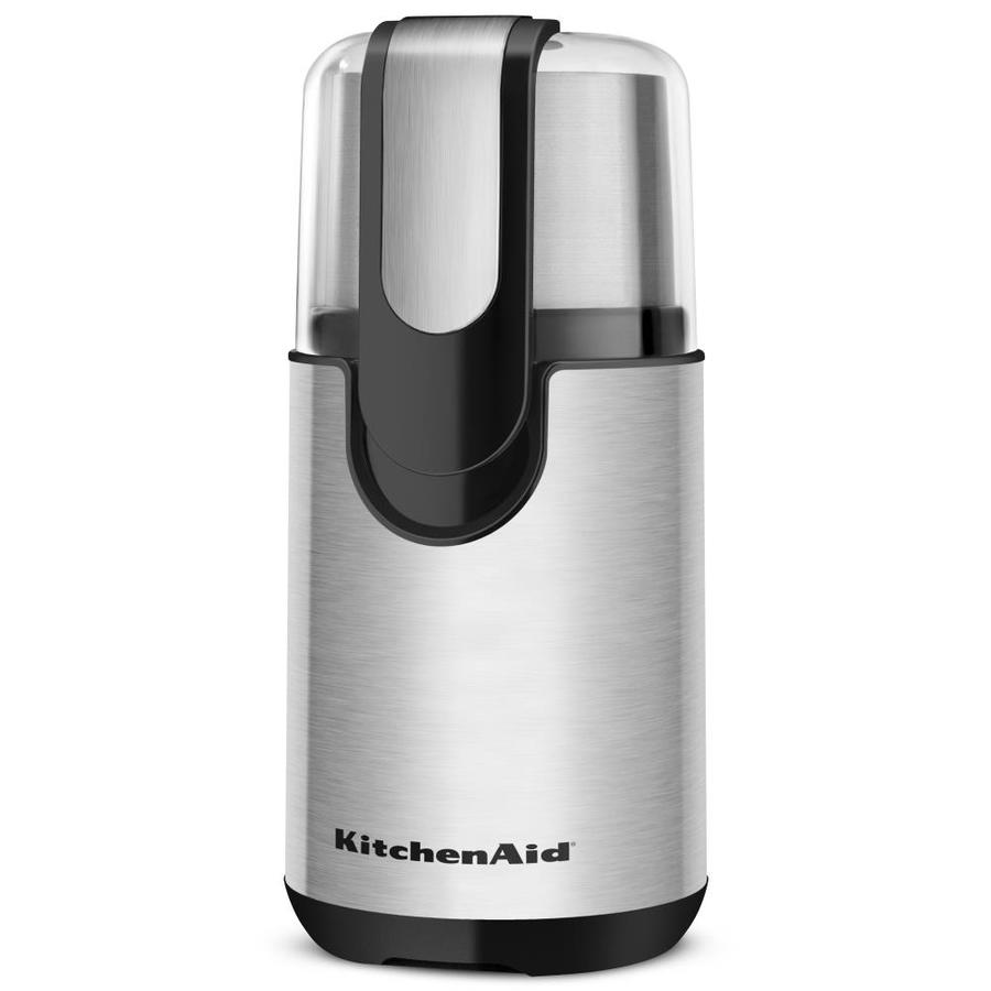 KitchenAid 4-oz Onyx Black Stainless Blade Coffee Grinder