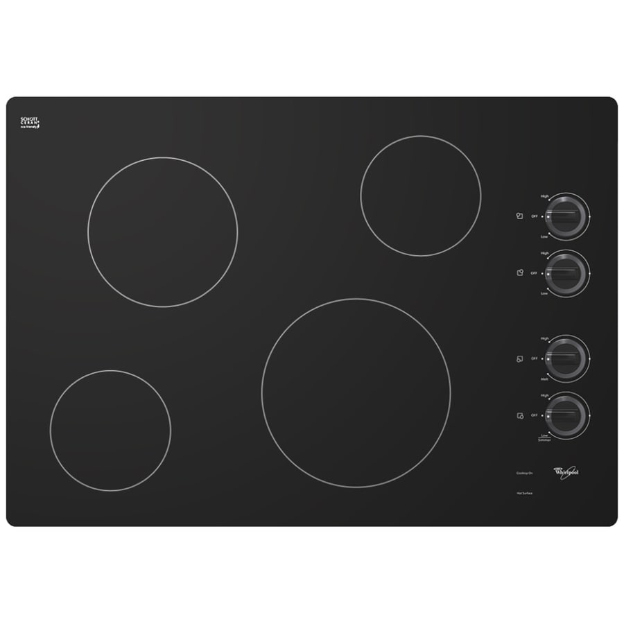 Whirlpool Smooth Surface Electric Cooktop (Black) (Common: 30-in; Actual 30.8125-in)