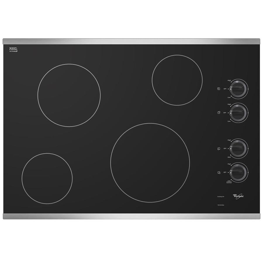 Whirlpool Smooth Surface Electric Cooktop (Stainless Steel) (Common: 30-in; Actual 30.8125-in)