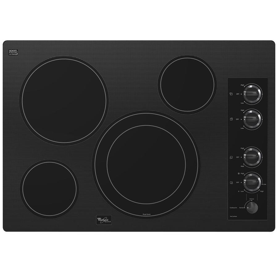 Black Whirlpool Electric Cooktops ~ Shop whirlpool gold smooth surface electric cooktop black