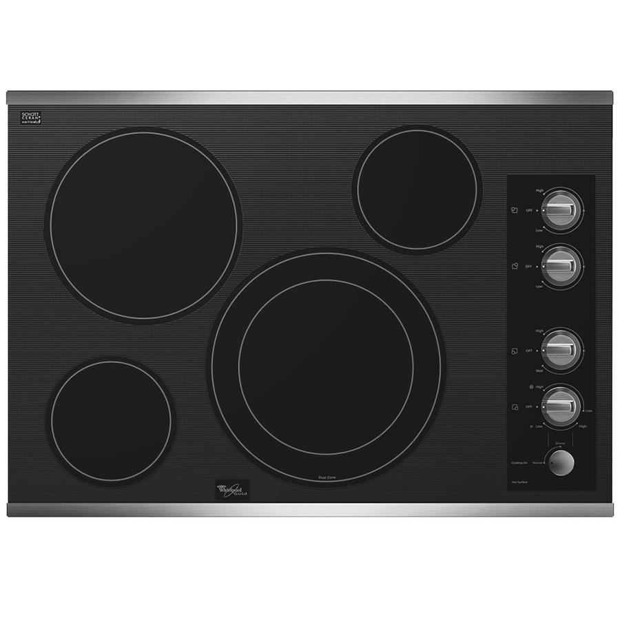 Whirlpool Gold Smooth Surface Electric Cooktop (Stainless Steel) (Common: 30-in; Actual 30.8125-in)
