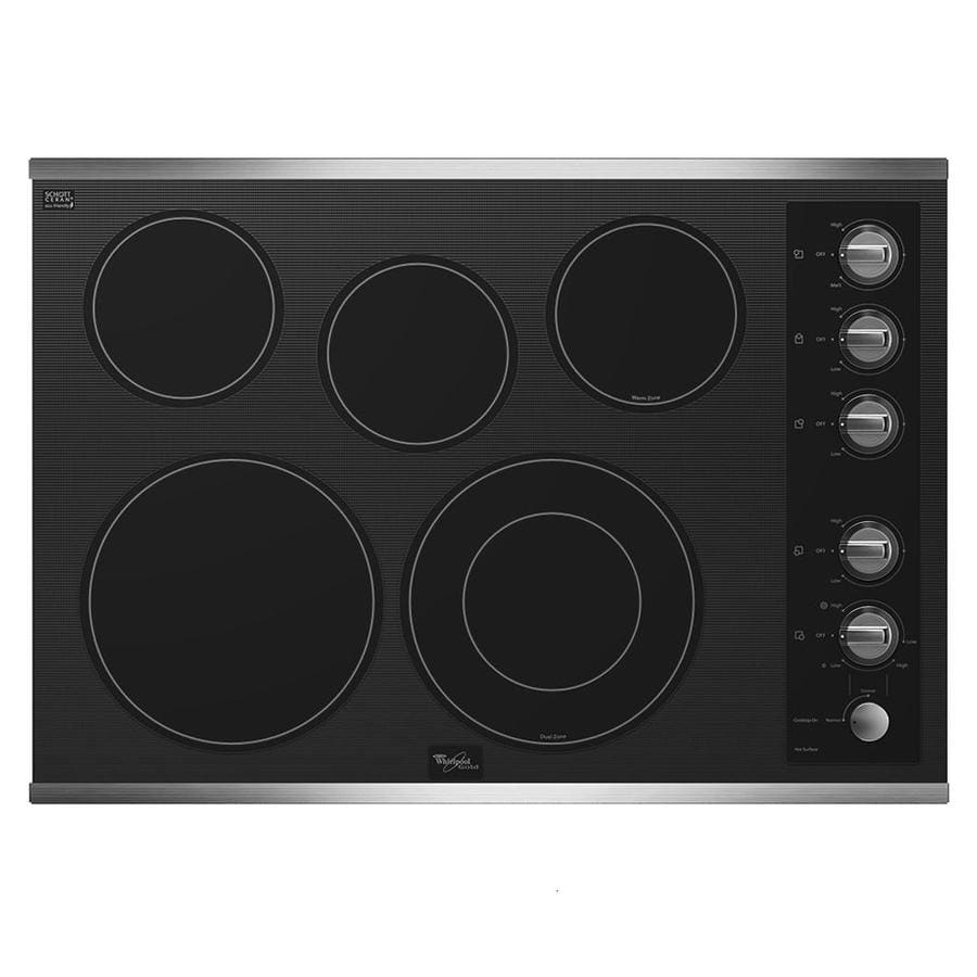 Whirlpool Gold 5-Element Smooth Surface Electric Cooktop (Stainless Steel) (Common: 30-in; Actual: 30.812-in)