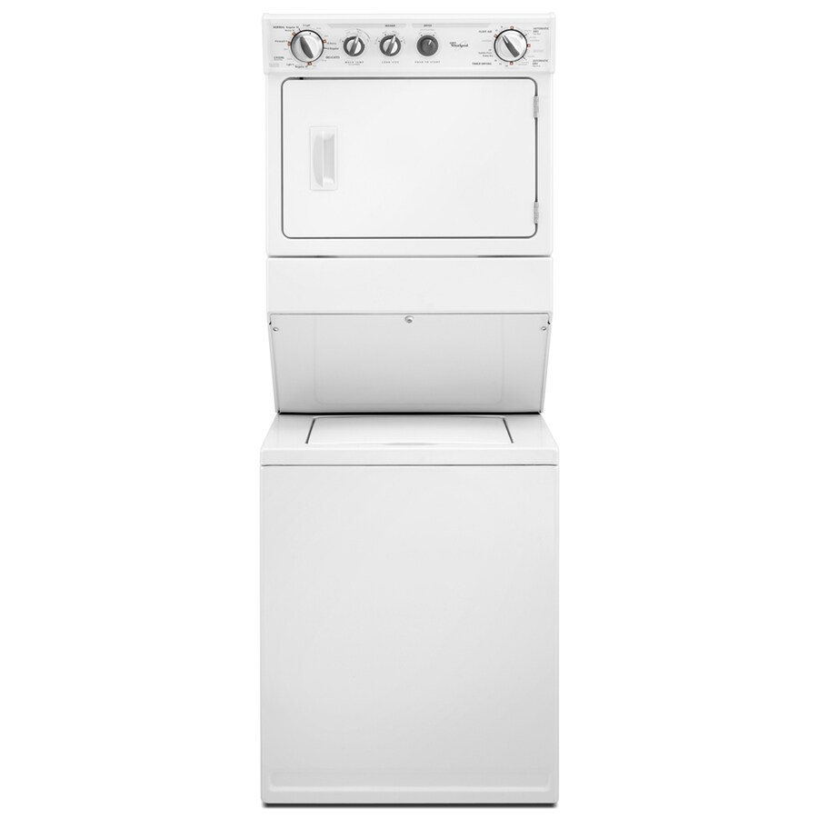 Whirlpool Gas Stacked Laundry Center with 2.5-cu ft Washer and 5.9-cu ft Dryer (White)