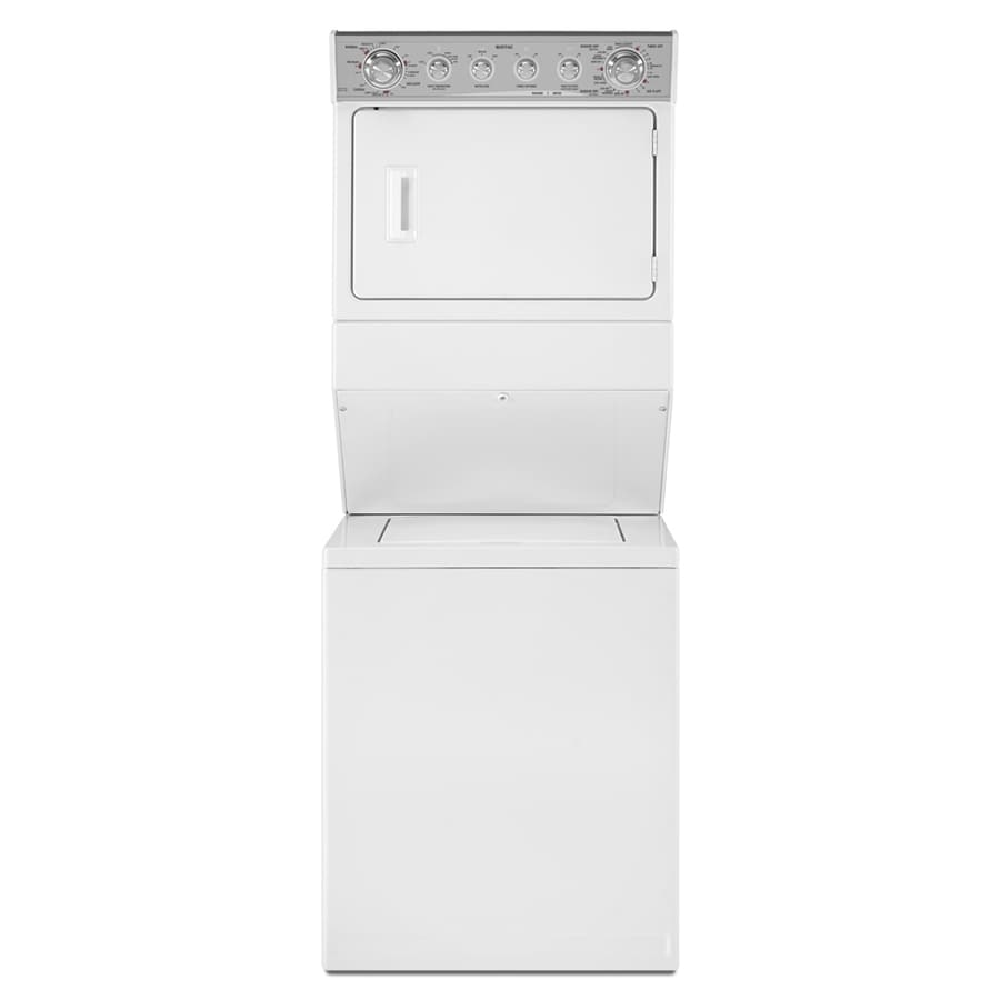 Maytag Gas Stacked Laundry Center with 2.5-cu ft Washer and 5.9-cu ft Dryer (White)