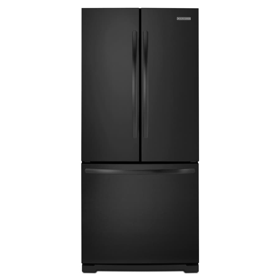 KitchenAid Architect Ii 19.6-cu ft French Door Refrigerator with Single Ice Maker (Black)