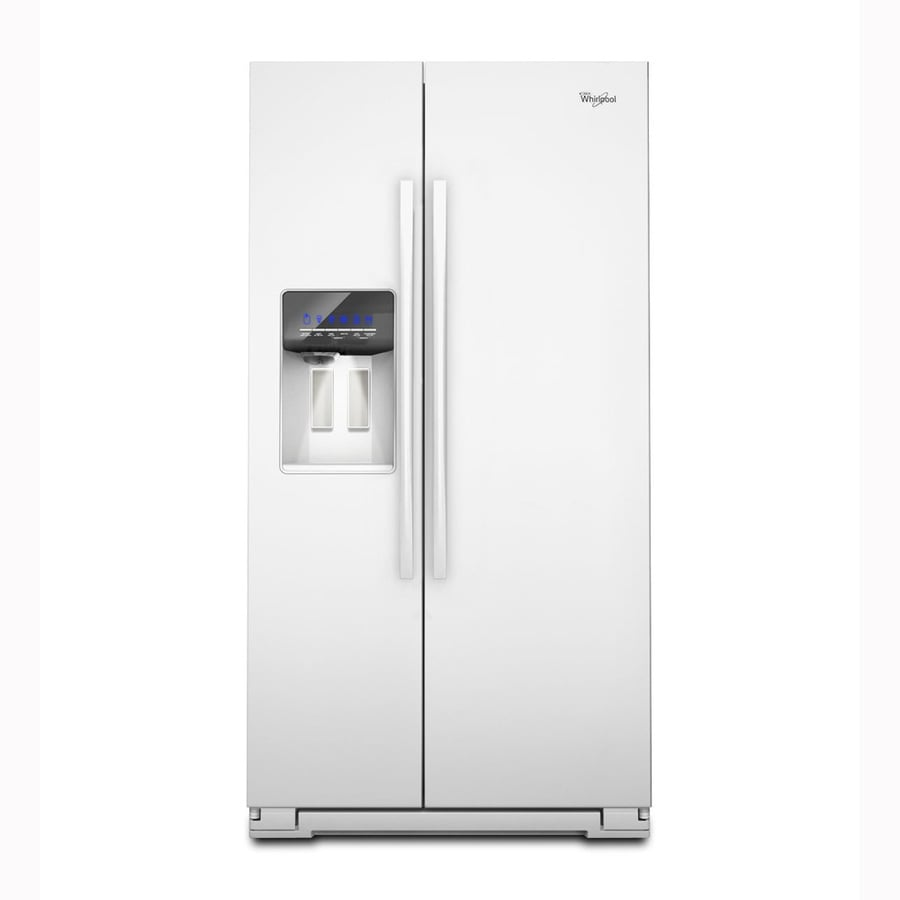 Whirlpool 26.4-cu ft Side-by-Side Refrigerator with Single Ice Maker (White)