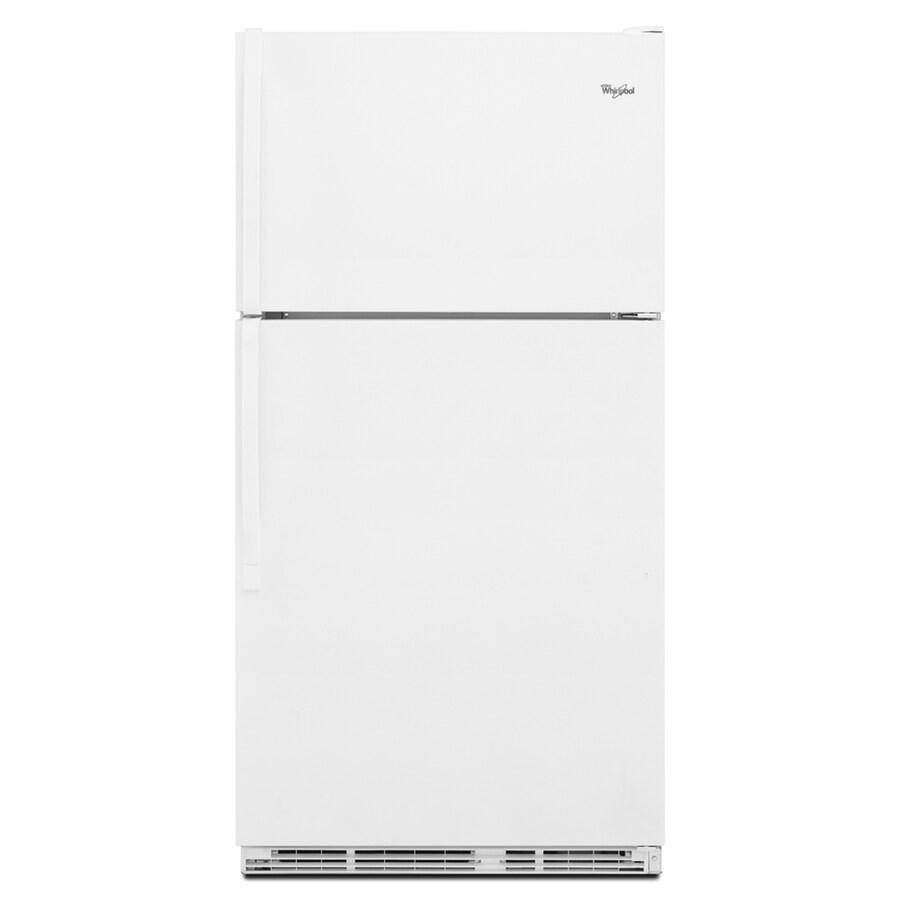 Whirlpool 20.6-cu ft Top-Freezer Refrigerator (White)