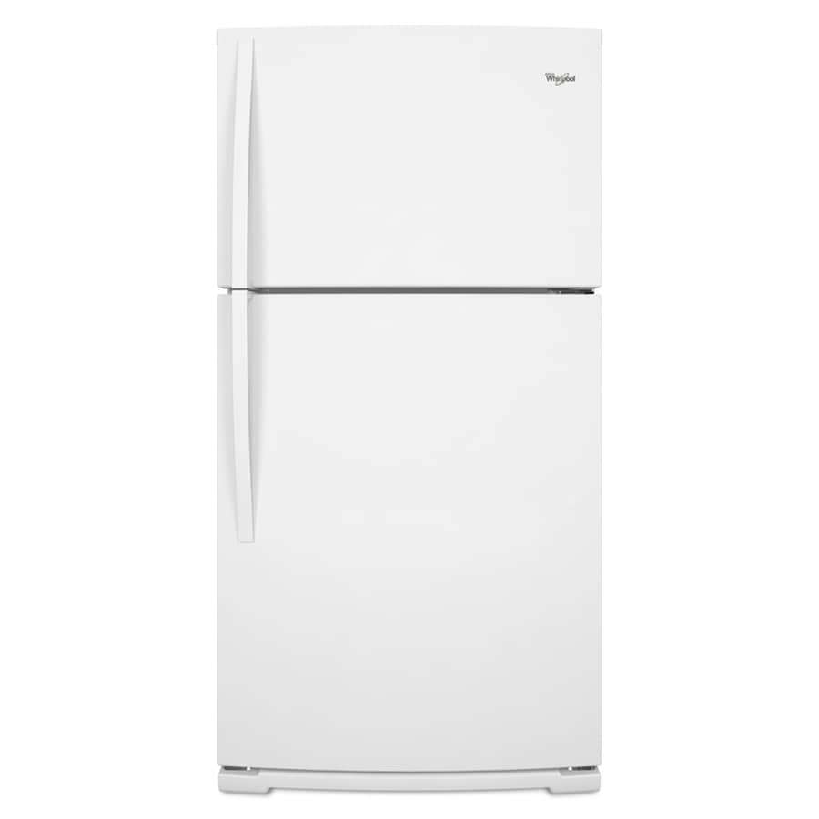 Whirlpool 21.1-cu ft Top-Freezer Refrigerator (White)