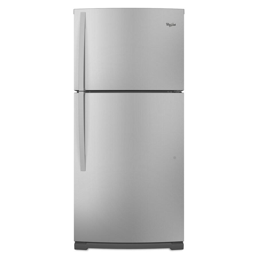Whirlpool 18.9-cu ft Top-Freezer Refrigerator (Stainless Steel) ENERGY STAR