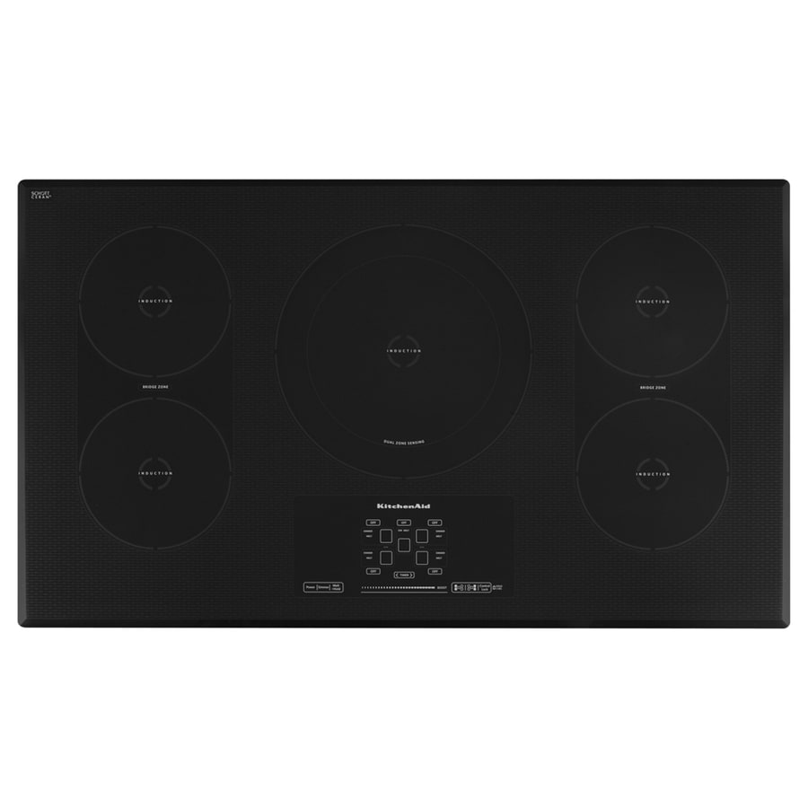 KitchenAid 5-Element Smooth Surface Induction Electric Cooktop (Black) (Common: 36-in; Actual 36.3125-in)