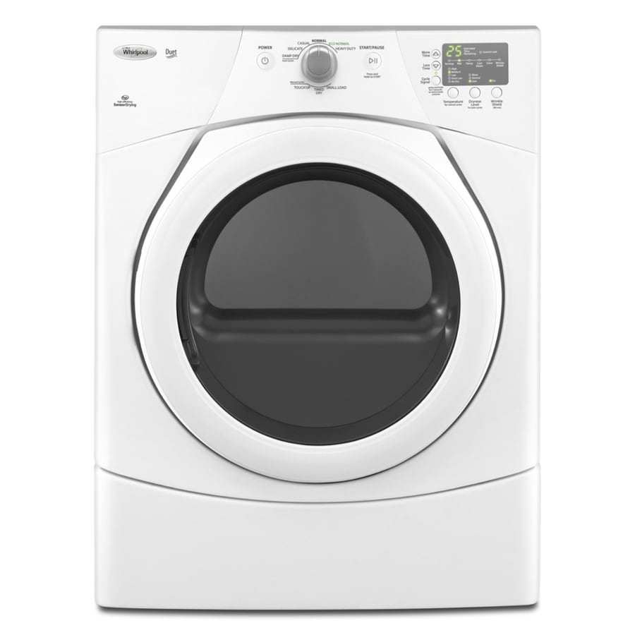 Whirlpool Duet 6.7-cu ft Stackable Electric Dryer (White)