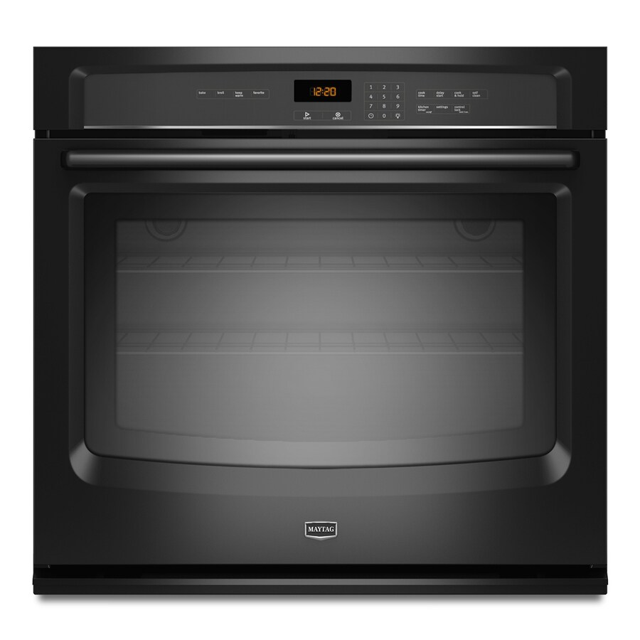 Maytag Self-Cleaning Single Electric Wall Oven (Black) (Common: 30-in; Actual 30-in)